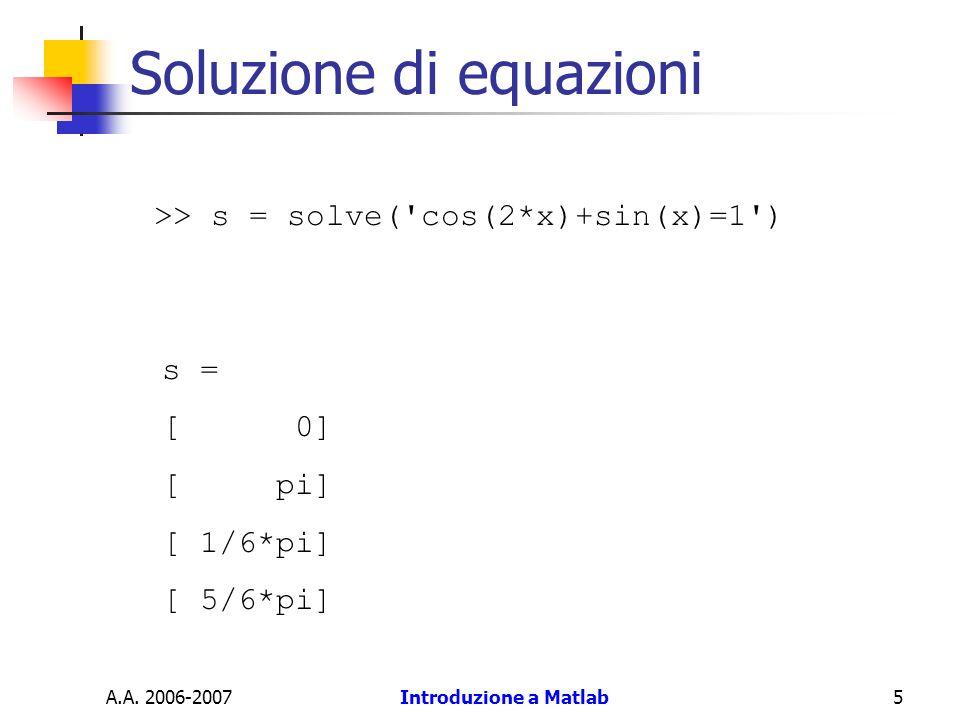 Soluzione di equazioni