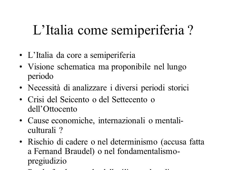 L'Italia come semiperiferia