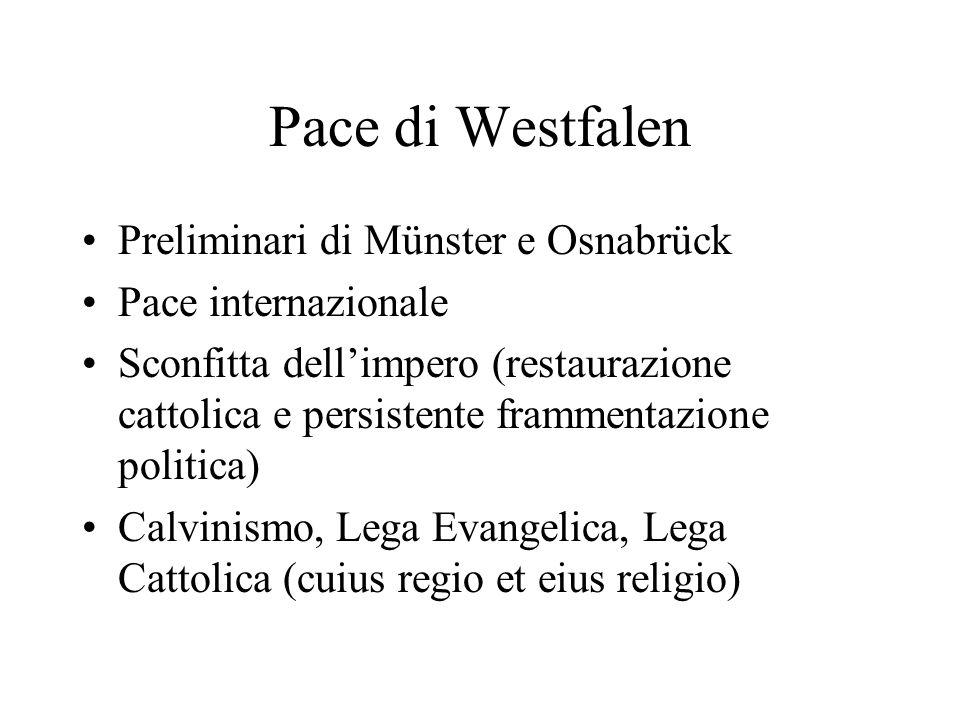 Pace di Westfalen Preliminari di Münster e Osnabrück