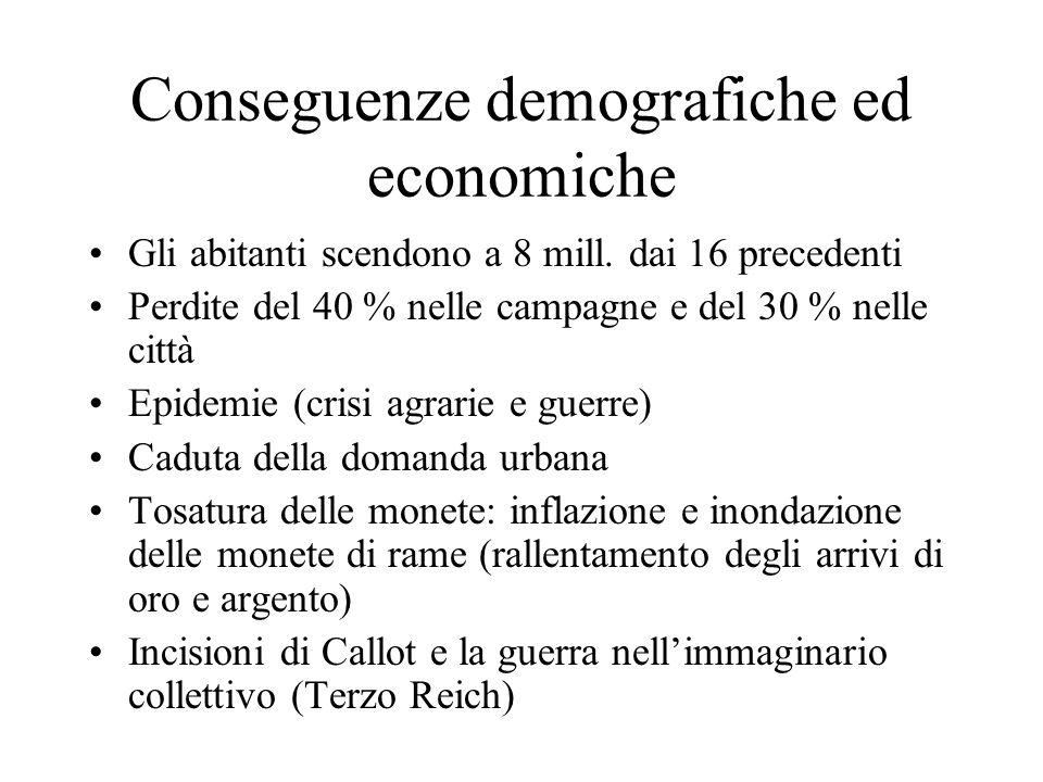 Conseguenze demografiche ed economiche