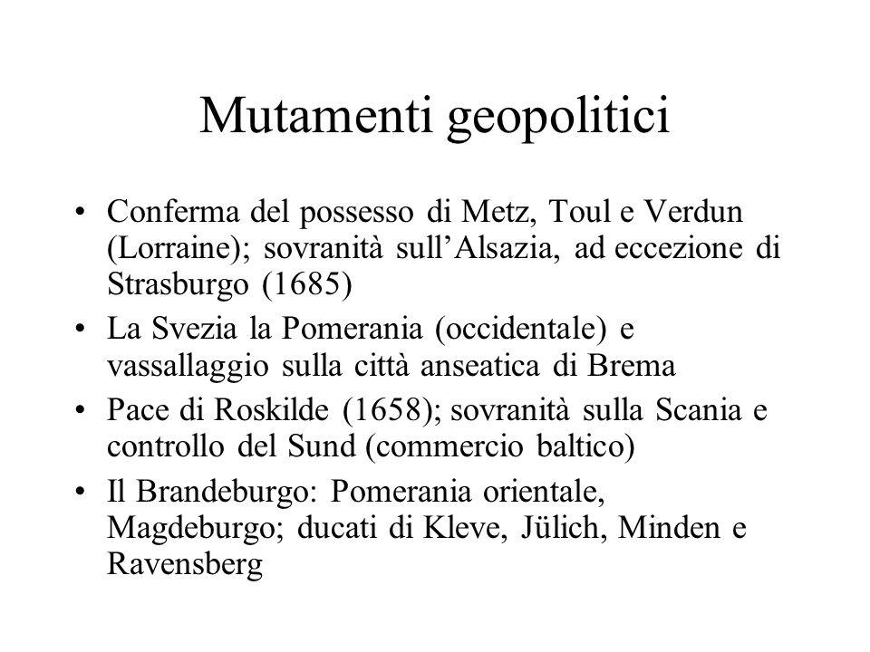 Mutamenti geopolitici