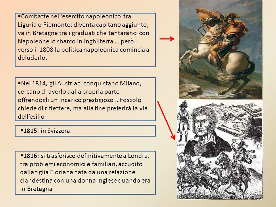 Combatte nell'esercito napoleonico tra Liguria e Piemonte; diventa capitano aggiunto; va in Bretagna tra i graduati che tentarano con Napoleone lo sbarco in Inghilterra … però verso il 1808 la politica napoleonica comincia a deluderlo.