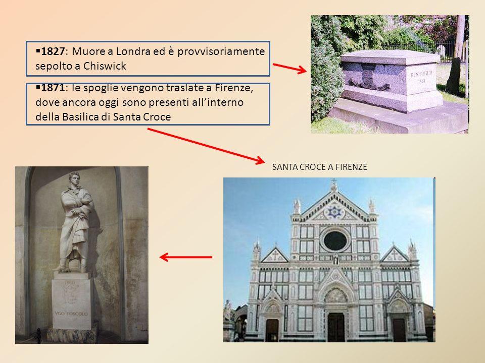 1827: Muore a Londra ed è provvisoriamente sepolto a Chiswick