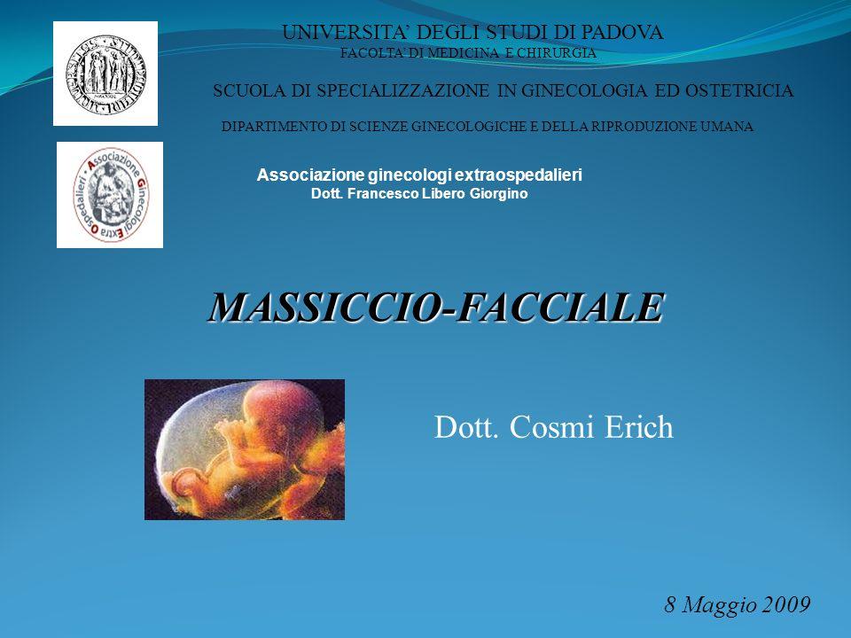 MASSICCIO-FACCIALE Dott. Cosmi Erich 8 Maggio 2009