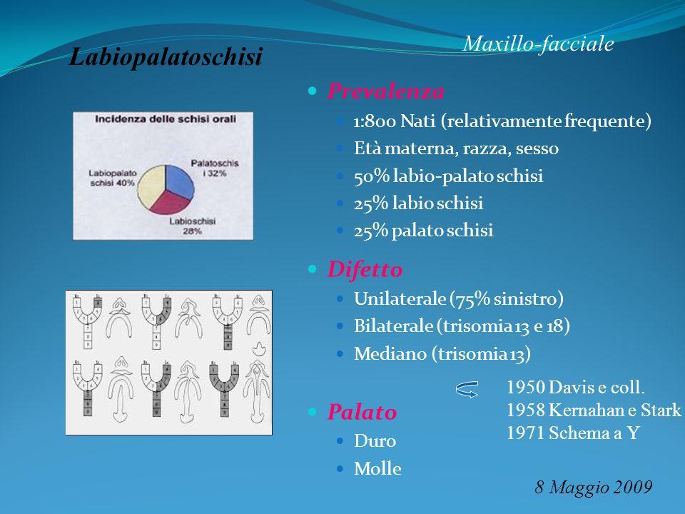 Labiopalatoschisi Maxillo-facciale Prevalenza Difetto Palato