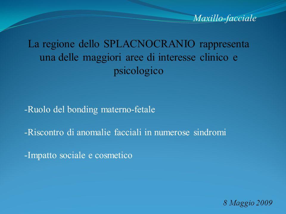 Maxillo-facciale La regione dello SPLACNOCRANIO rappresenta una delle maggiori aree di interesse clinico e psicologico.