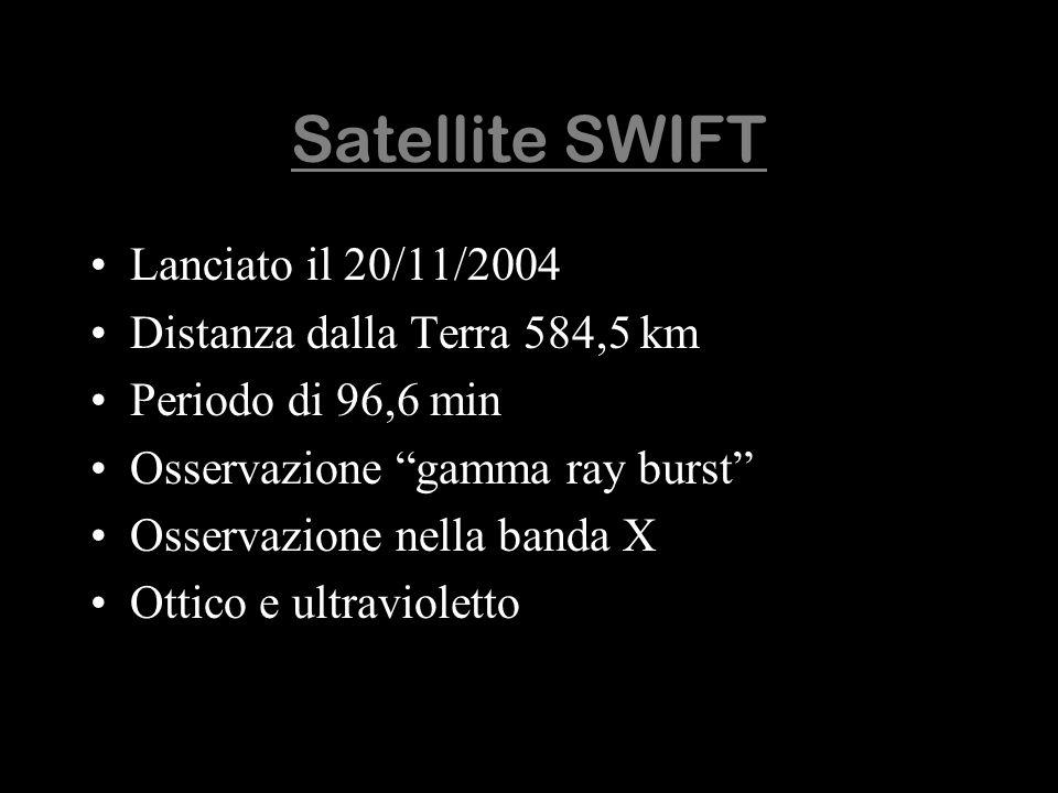 Satellite SWIFT Lanciato il 20/11/2004 Distanza dalla Terra 584,5 km