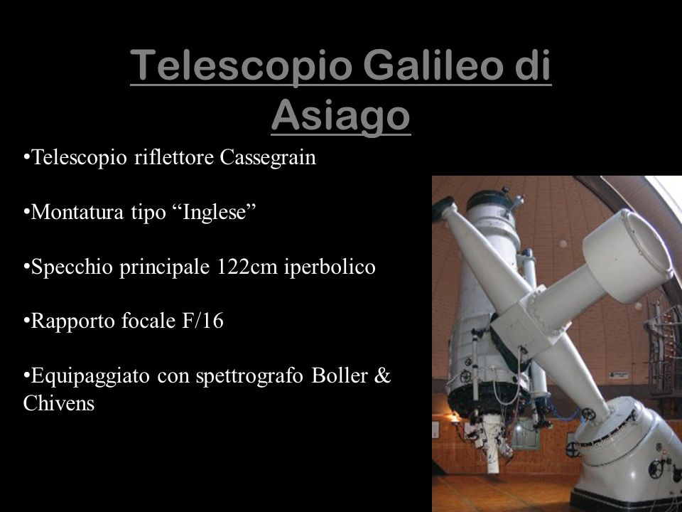Telescopio Galileo di Asiago