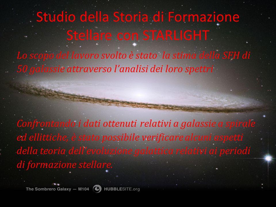 Studio della Storia di Formazione Stellare con STARLIGHT