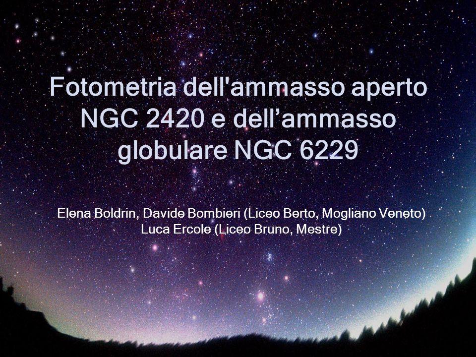 Fotometria dell ammasso aperto NGC 2420 e dell'ammasso globulare NGC 6229