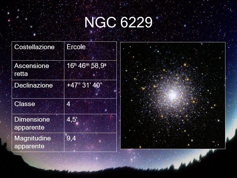 NGC 6229 Costellazione Ercole Ascensione retta 16h 46m 58,9s