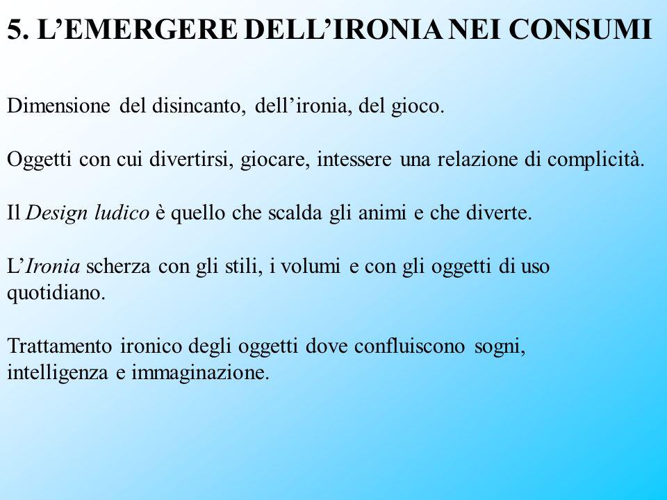 5. L'EMERGERE DELL'IRONIA NEI CONSUMI
