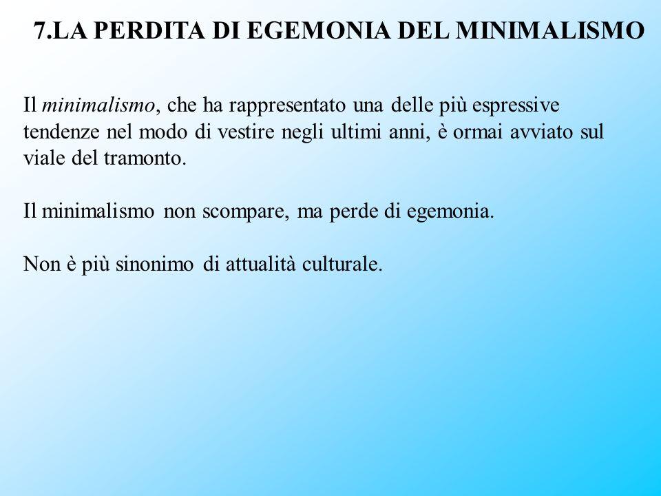 7.LA PERDITA DI EGEMONIA DEL MINIMALISMO