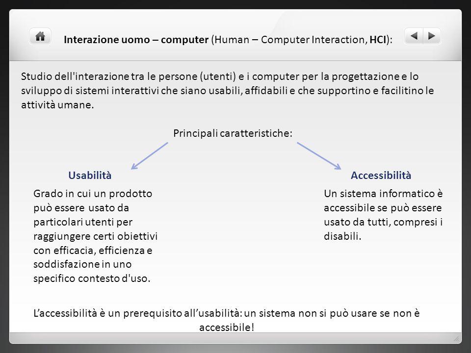 Principali caratteristiche: