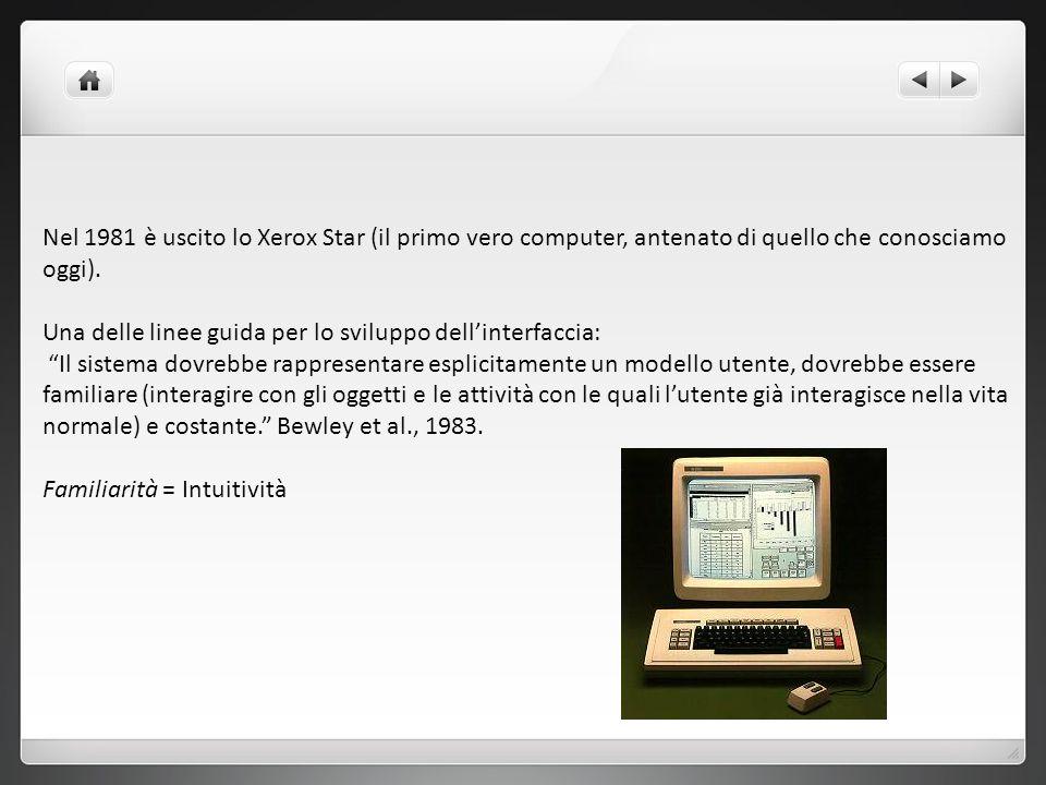 Nel 1981 è uscito lo Xerox Star (il primo vero computer, antenato di quello che conosciamo oggi).