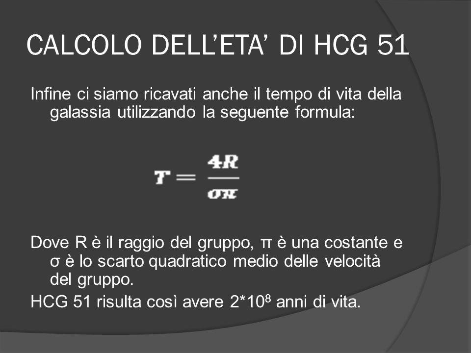 CALCOLO DELL'ETA' DI HCG 51