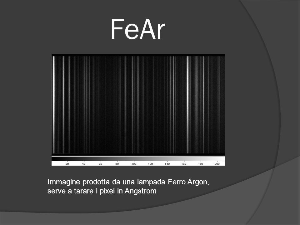 FeAr Immagine prodotta da una lampada Ferro Argon, serve a tarare i pixel in Angstrom