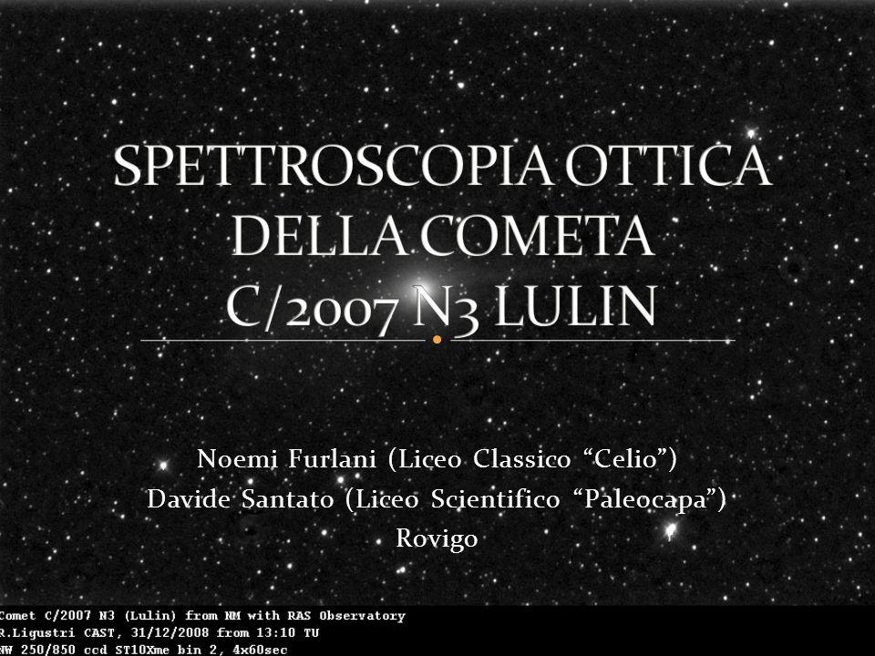 SPETTROSCOPIA OTTICA DELLA COMETA C/2007 N3 LULIN