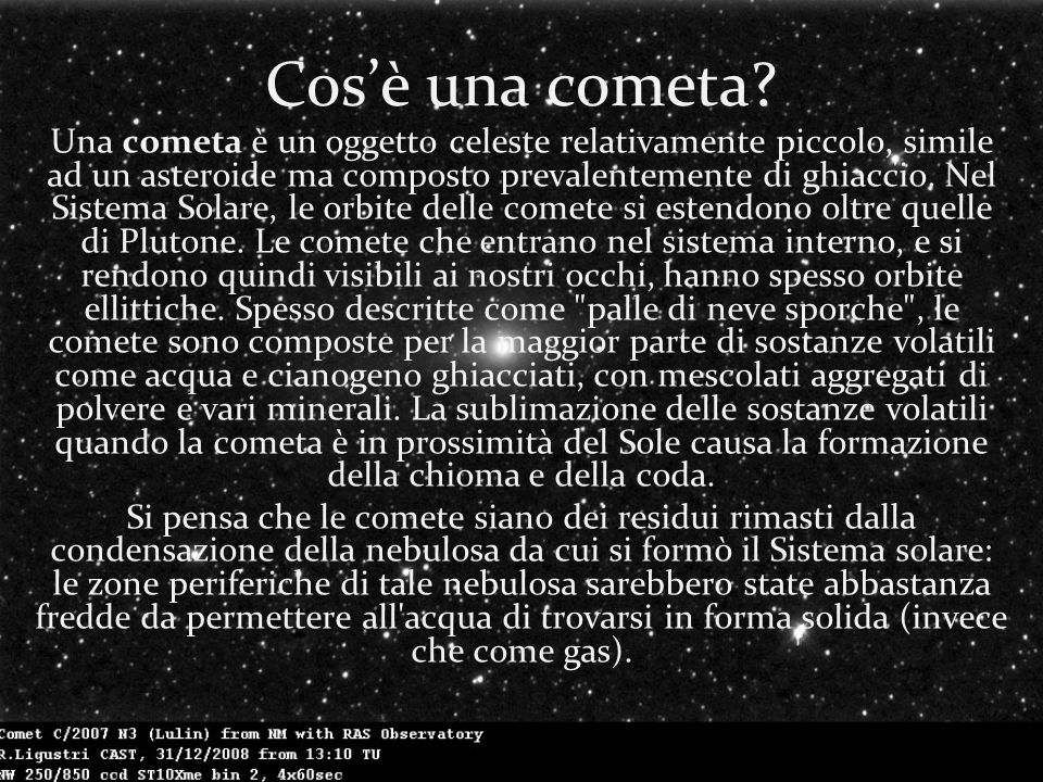 Cos'è una cometa