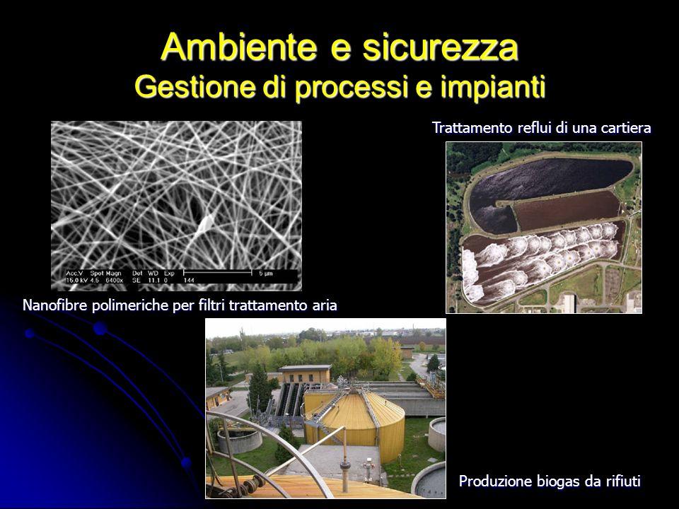Ambiente e sicurezza Gestione di processi e impianti