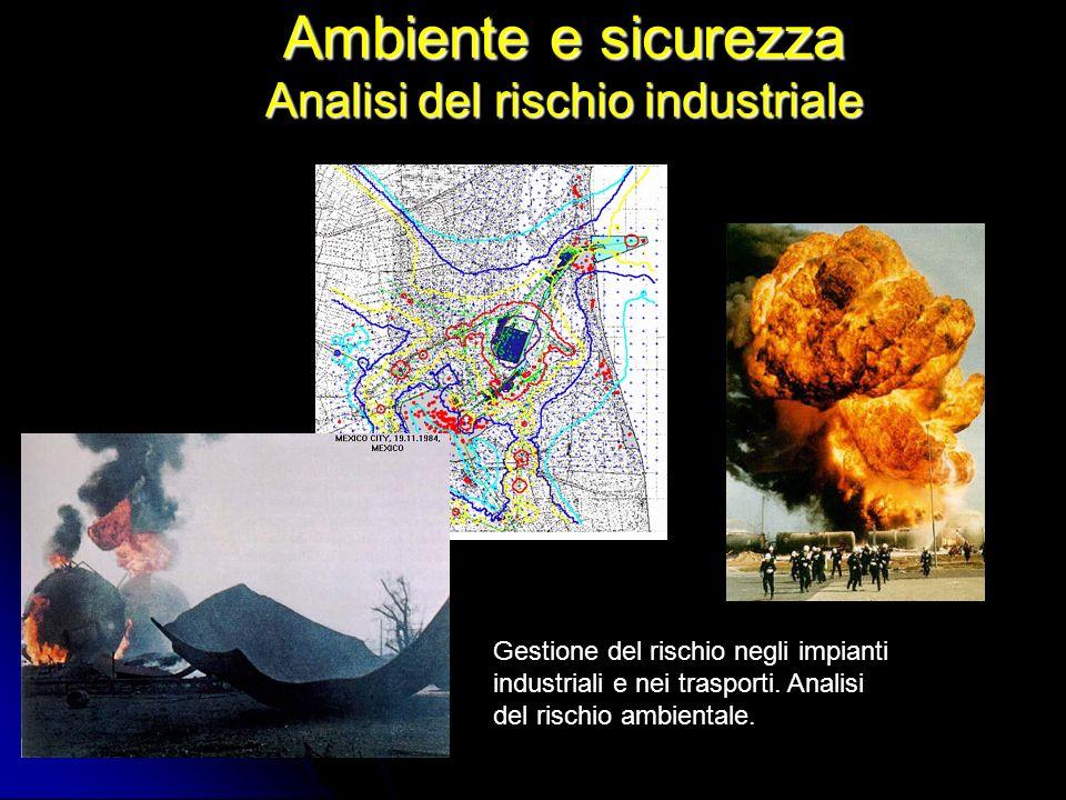 Ambiente e sicurezza Analisi del rischio industriale