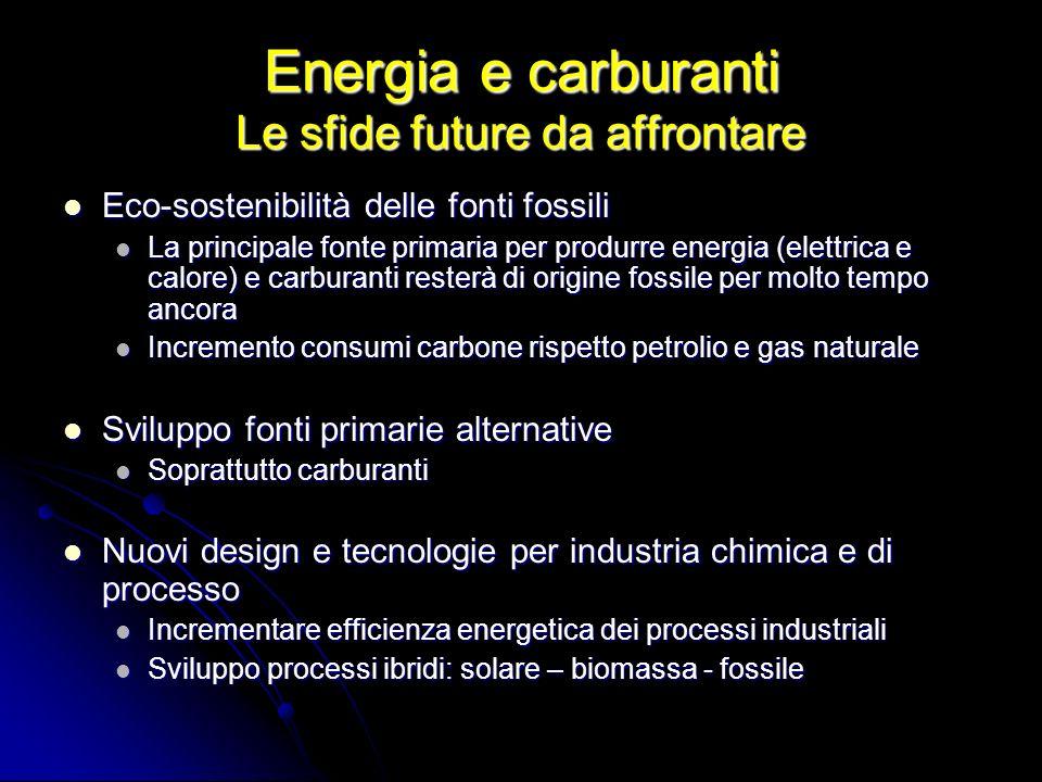 Energia e carburanti Le sfide future da affrontare