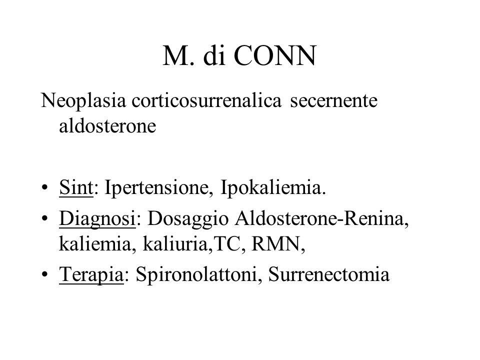 M. di CONN Neoplasia corticosurrenalica secernente aldosterone