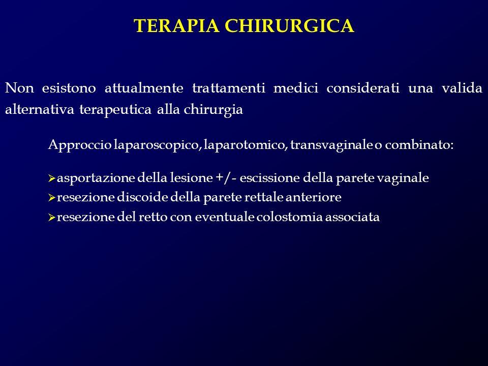 TERAPIA CHIRURGICA Non esistono attualmente trattamenti medici considerati una valida alternativa terapeutica alla chirurgia.