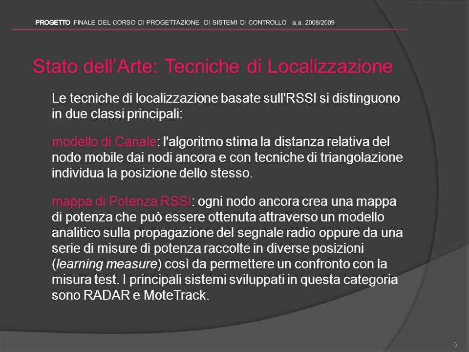 Stato dell'Arte: Tecniche di Localizzazione
