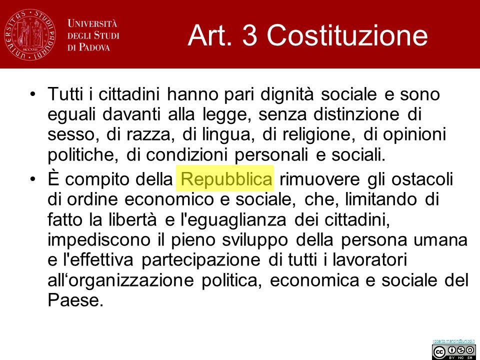 Art. 3 Costituzione