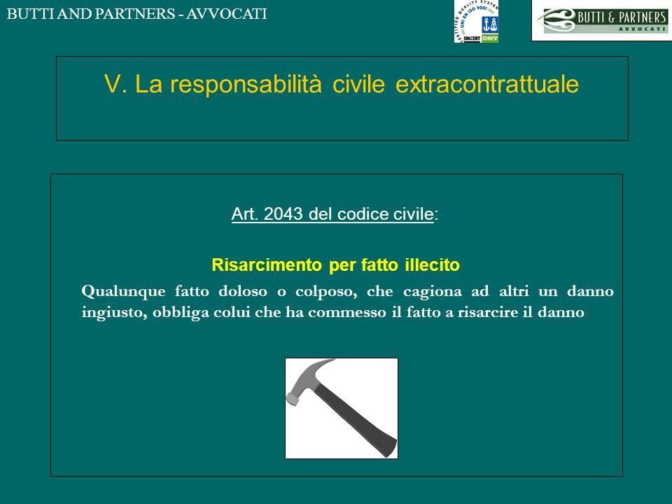 V. La responsabilità civile extracontrattuale