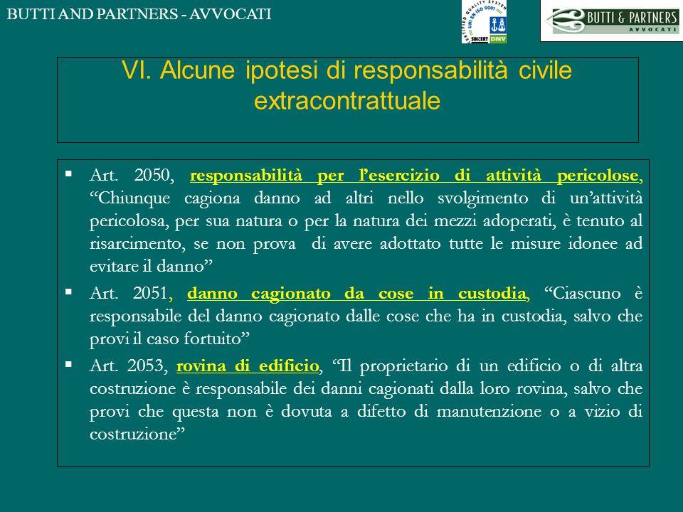 VI. Alcune ipotesi di responsabilità civile extracontrattuale