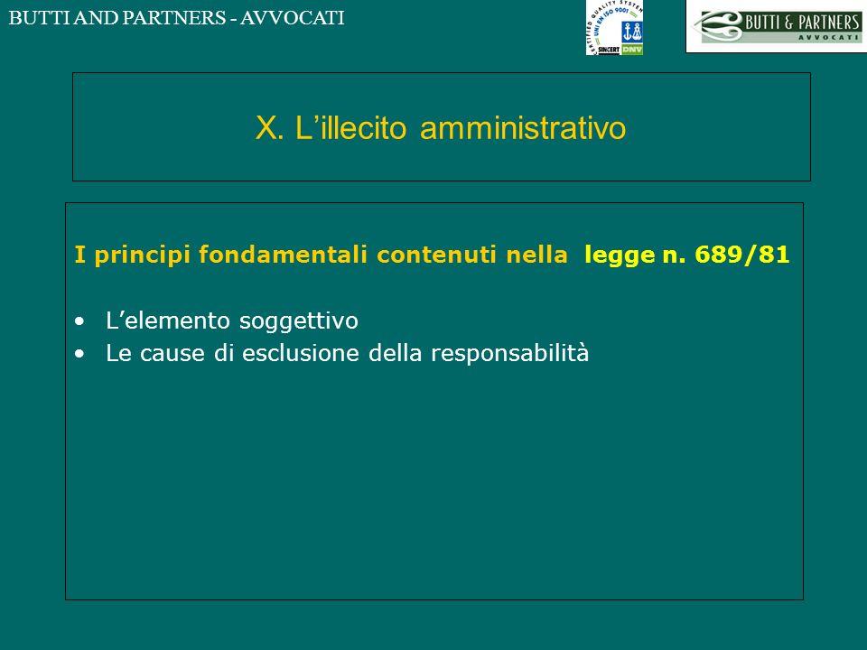 X. L'illecito amministrativo