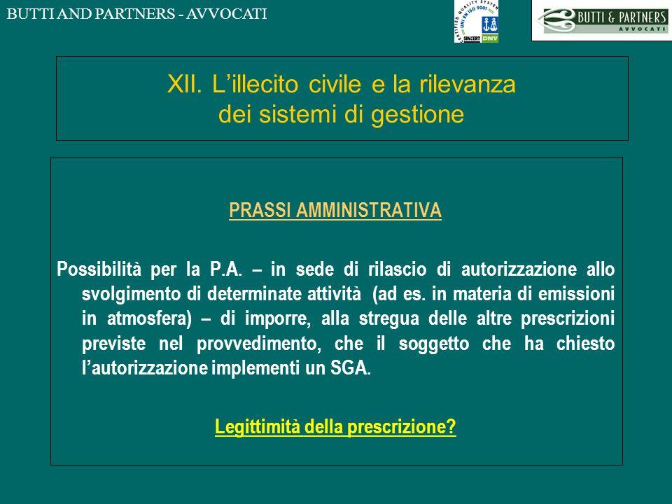 XII. L'illecito civile e la rilevanza dei sistemi di gestione