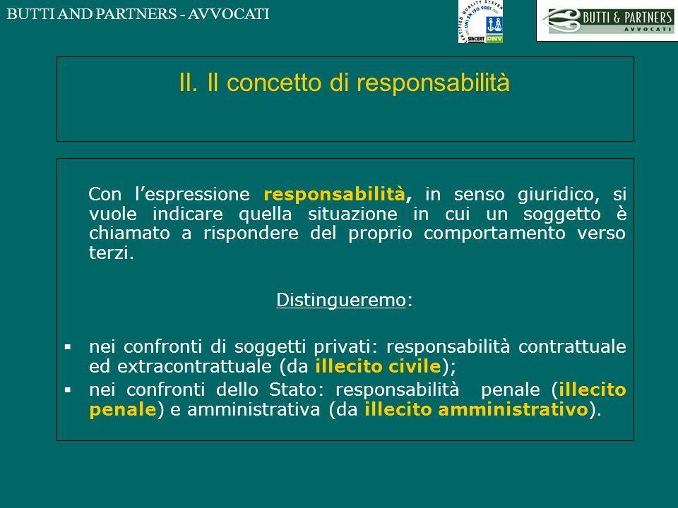 II. Il concetto di responsabilità