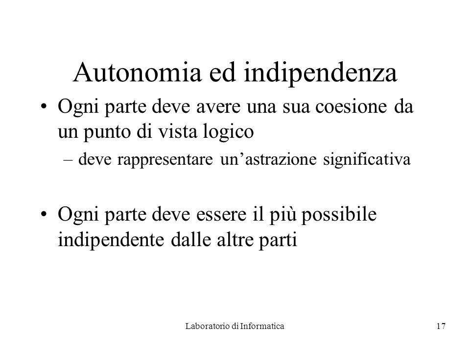 Autonomia ed indipendenza