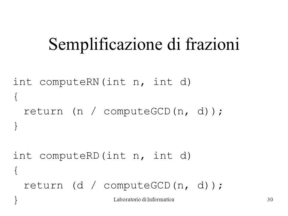Semplificazione di frazioni