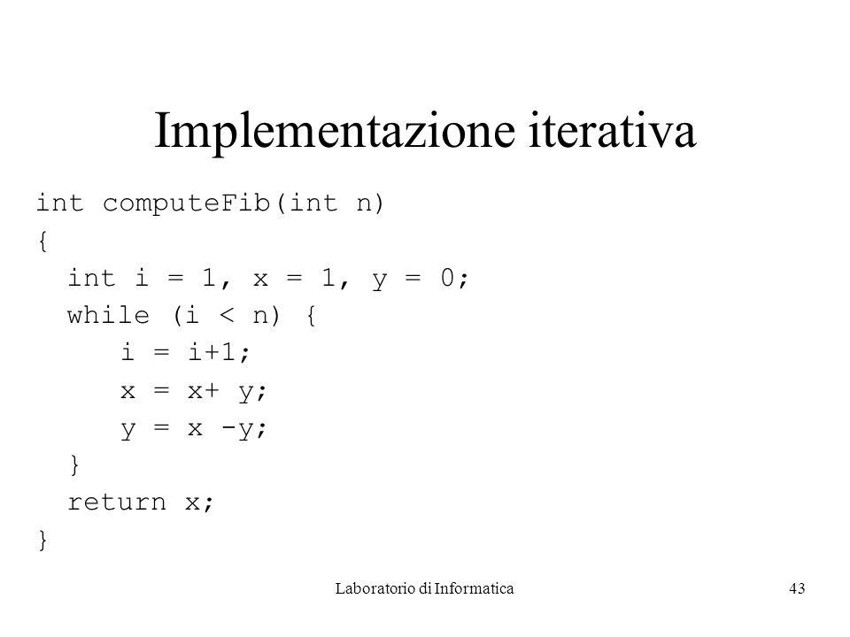 Implementazione iterativa