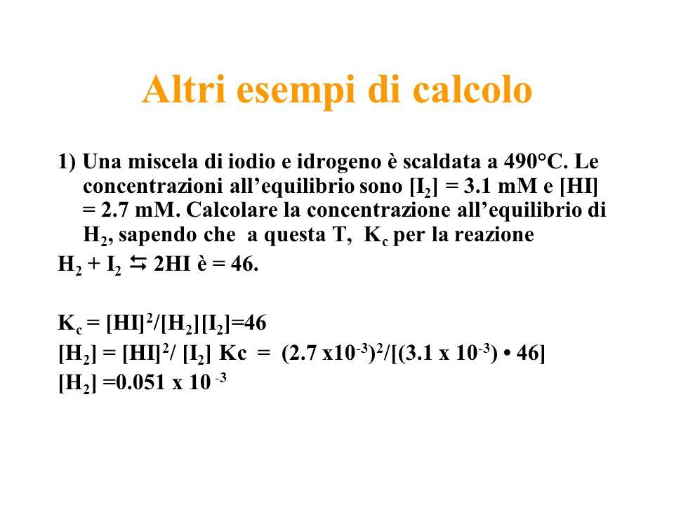 Altri esempi di calcolo