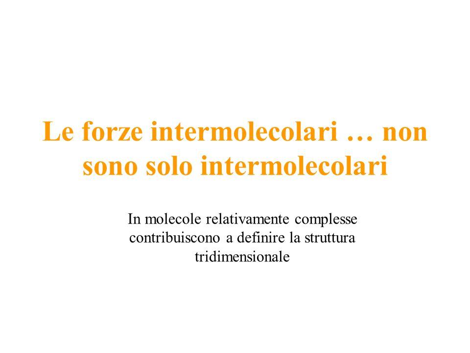 Le forze intermolecolari … non sono solo intermolecolari