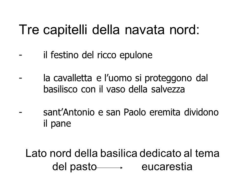 Lato nord della basilica dedicato al tema del pasto eucarestia