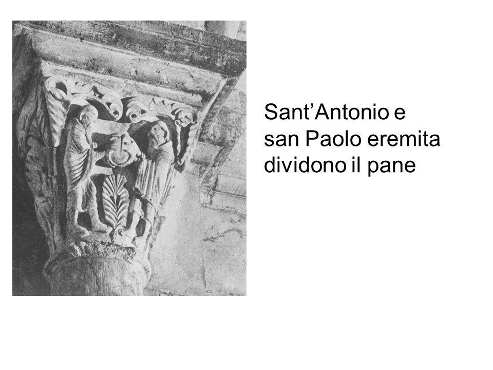 Sant'Antonio e san Paolo eremita dividono il pane