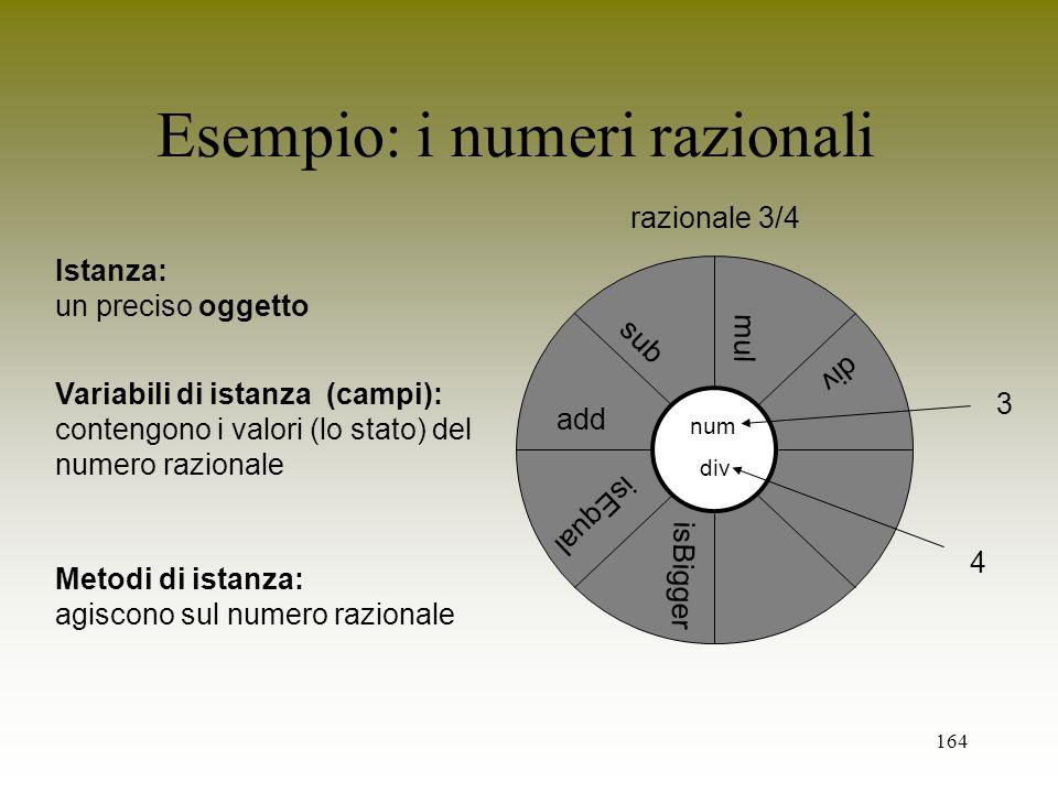 Esempio: i numeri razionali
