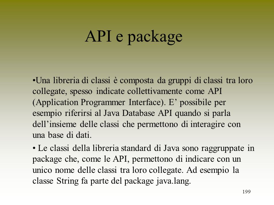 API e package