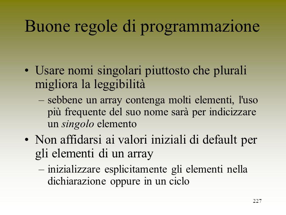 Buone regole di programmazione