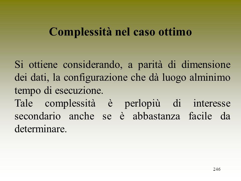 Complessità nel caso ottimo