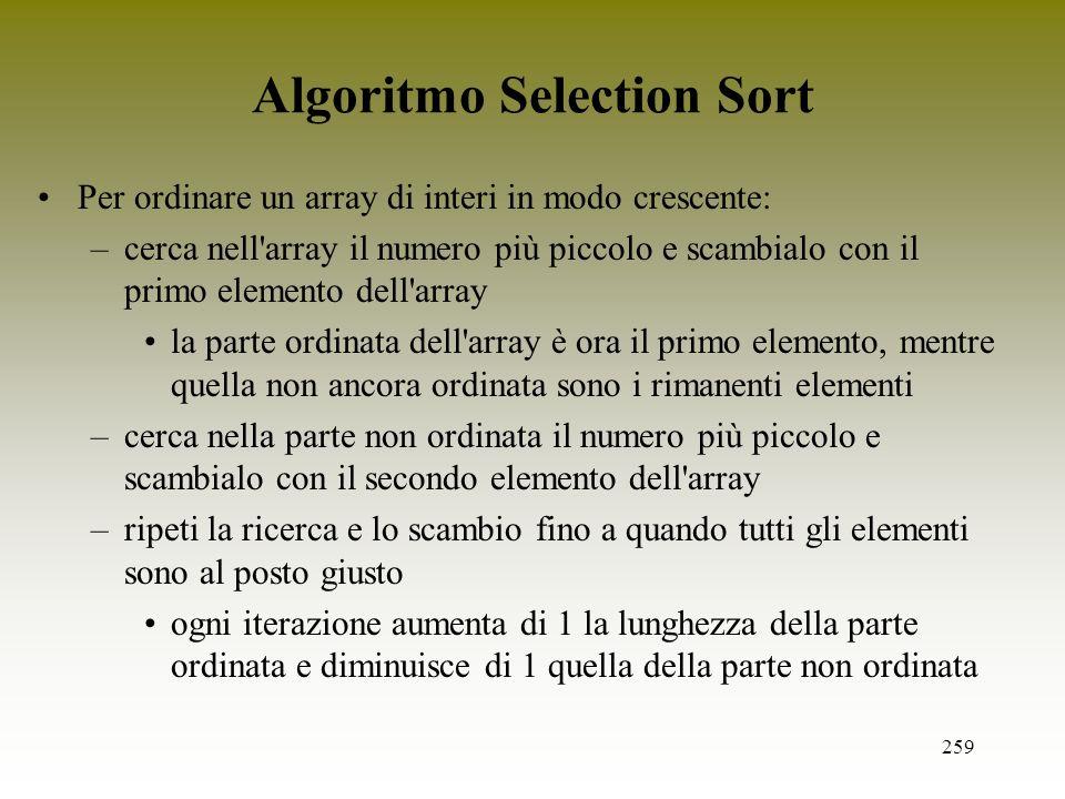 Algoritmo Selection Sort