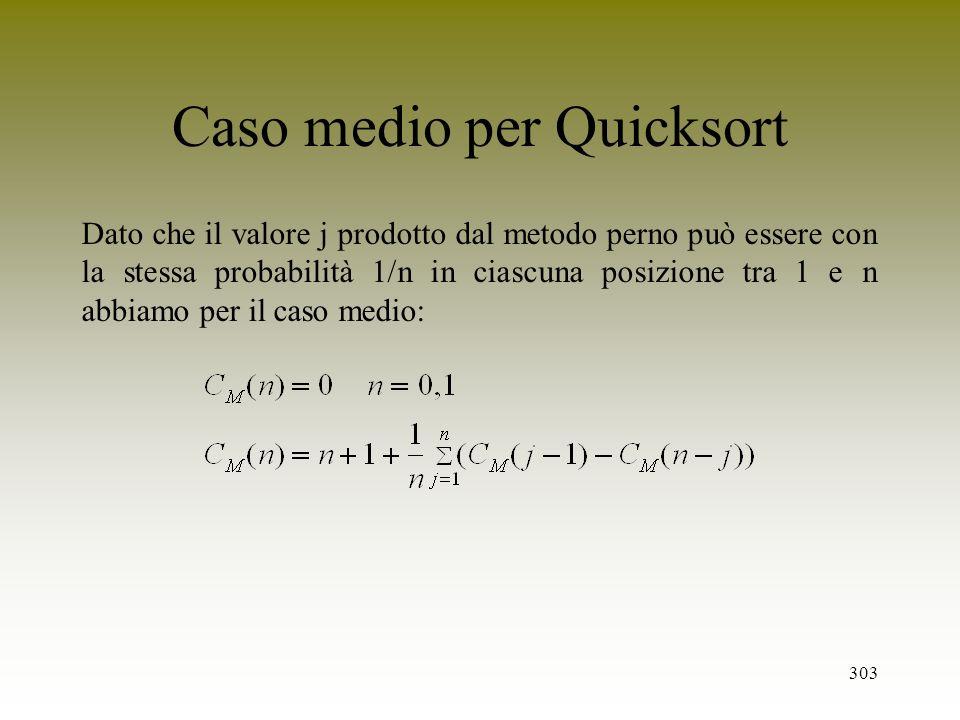 Caso medio per Quicksort