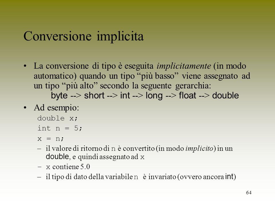 Conversione implicita