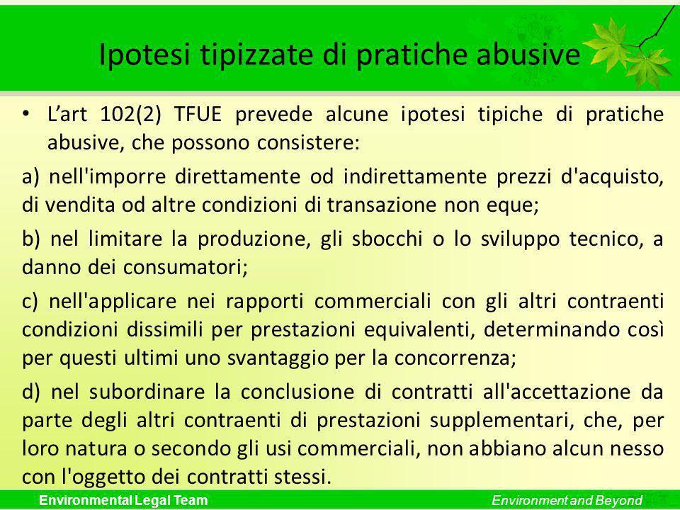 Ipotesi tipizzate di pratiche abusive